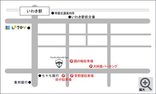 提携駐車場配置図
